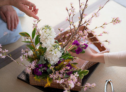 Knowing -Japanese Flower Arrangement at the Detached House-